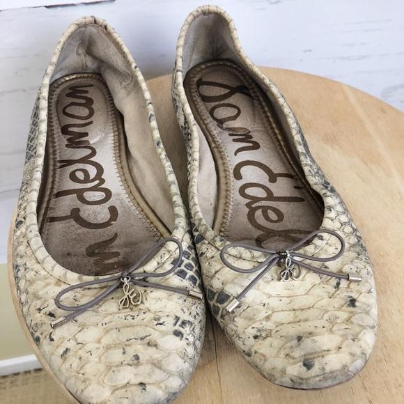 76492ba52385cb Sam Edelman Shoes - Sam Edelman Felicia Snakeskin Flats